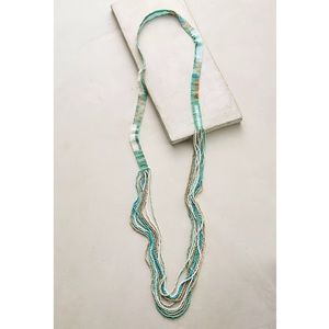 NWT Anthropologie Beaded Layered Long Necklace